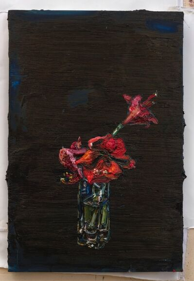 Allison Schulnik, 'Red Amaryllis', 2016