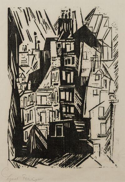Lyonel Feininger, 'Pariser Häuser (Prasse W119II)', 1920