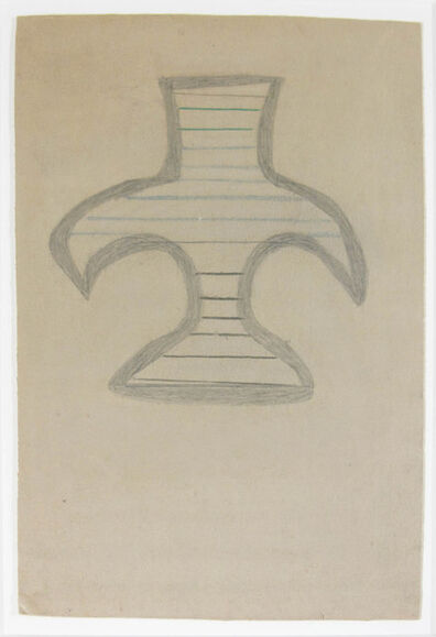 Bill Traylor, 'Basket Form'