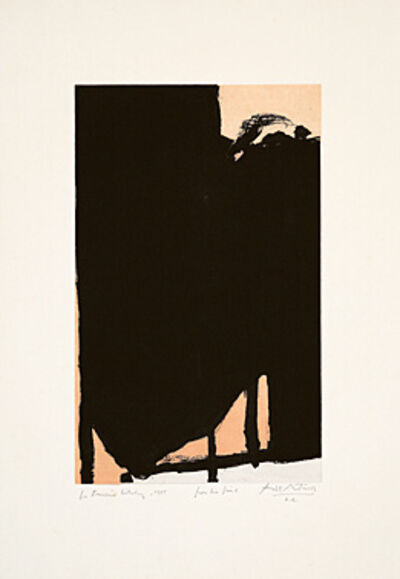 Robert Motherwell, 'Elegy Fragment II', 1985