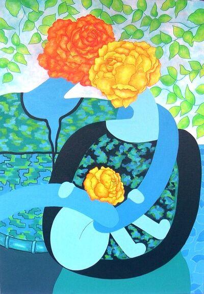 Jocelyne Deschamps-Kus (Jideka), 'Couple de roses avec enfant (Couple of roses with child)', 2014