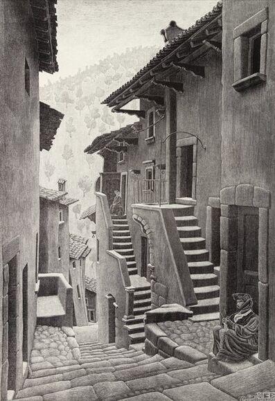 Maurits Cornelis Escher, 'Street in Scanno, Abruzzi', 1930