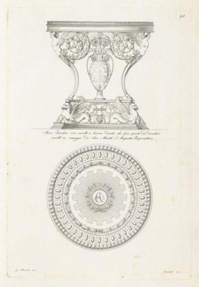 Giuseppe Borsato, 'Ricco Tavolino con smalti e bronzi dorati, che fece parte dei donativi accolti in omaggio da Sua Maesta l'Augusta Imperatrice', 1825