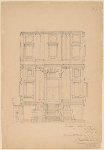 John Russell Pope, 'Library, San Lorenzo', ca. 1896