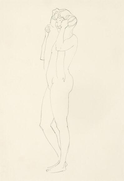 Koloman Moser, 'Female Standing Nude', 1912