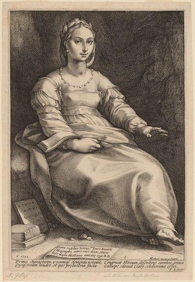 Hendrik Goltzius, 'Calliope', 1592