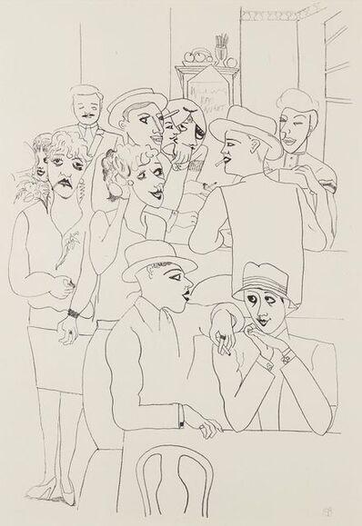 Edward Burra, 'Figures in a Bar', 1931