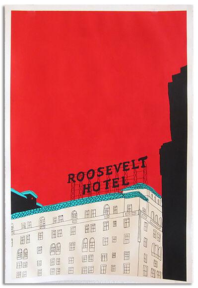 Marz Junior, 'LA Roosevelt Hotel- red vertical framed', 2019