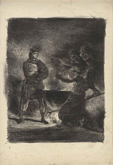 Eugène Delacroix, 'Macbeth consultant les sorcières – Macbeth Consulting the Witches', ca. 1824