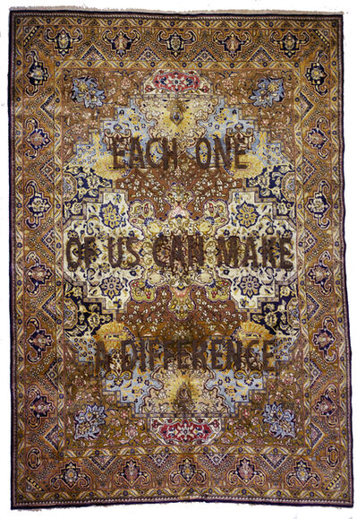 """Loredana Longo, 'Carpet#39 """"Each One Of Us Can Make A Difference"""", ', 2019"""