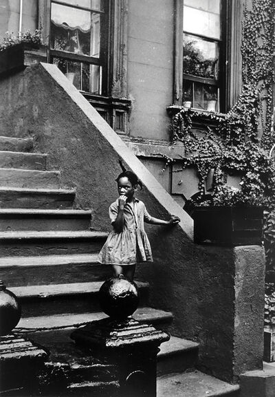 Louis Draper, 'Untitled (Girl on steps, building with ivy), Pennsylvania', ca. 1980