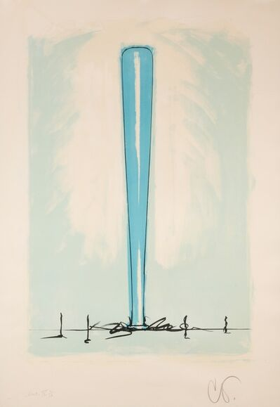 Claes Oldenburg, 'Bat Spinning at the Speed of Light, State IV', 1975
