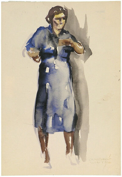 Charles White, 'WOMAN IN BLUE DRESS', ca. 1935