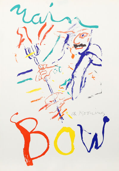 Willem de Kooning, 'Rainbow - Thelonius Monk - Devil at the Keyboard', 1972