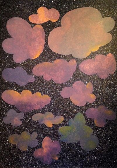 Donald Traver, 'Clouds with Gibbous Moon', 2016