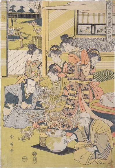 Katsukawa Shunei, 'The Treasury of Loyal Retainers: Act Four', ca. 1807