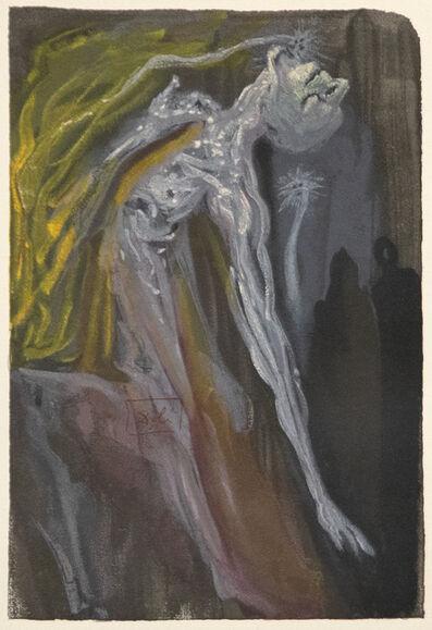 Salvador Dalí, 'Zerrissen sie die Brust sich mit den Klauen, Schlugen die Hand' und schrieen dergestalt, Dass ich mich anschmiegt' an Virgil vor Grauen', 1974
