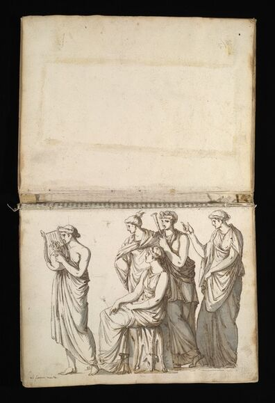 Antoine-Léonard Dupasquier, '[Sketchbook of Roman antiquities]', 1779
