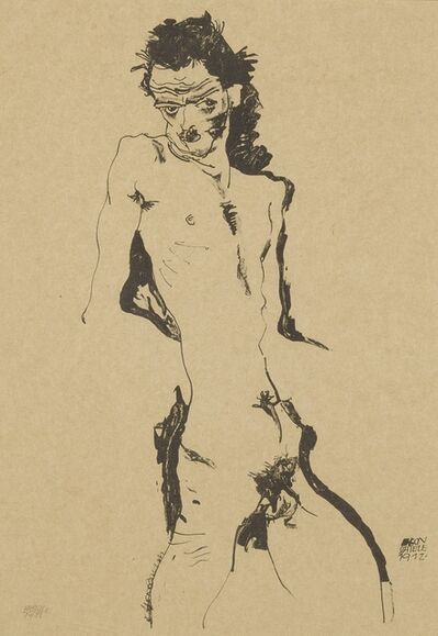 Egon Schiele, 'Male Nude (Self Portrait) I (Kallir 1)', 1912