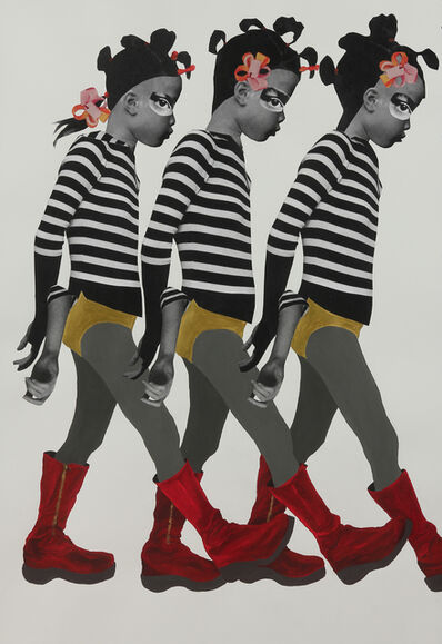 Deborah Roberts, 'The Sleepwalkers', 2017