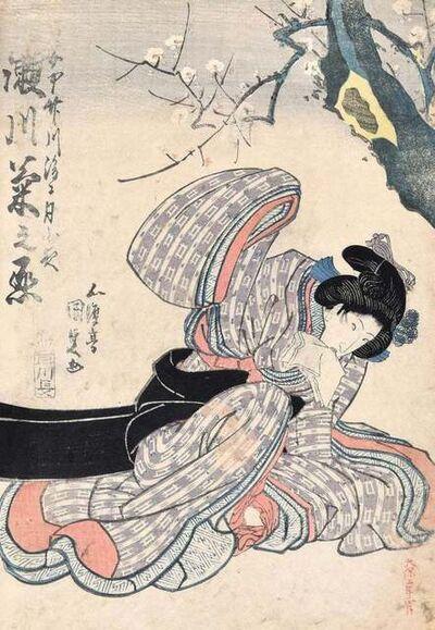 Utagawa Kunisada, 'Kabuki Actress', ca. 1830