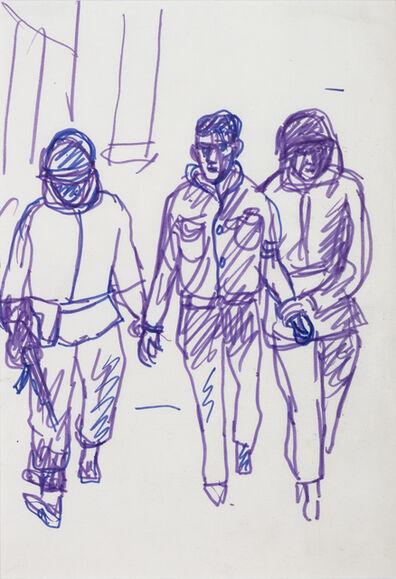 "Antonio Berni, 'Sin Título (Militante detenido). De la serie ""Mexico 68""', ca. 1968"