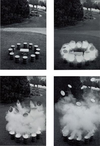 Roman Signer, 'Aktion mit Fässern', 1992