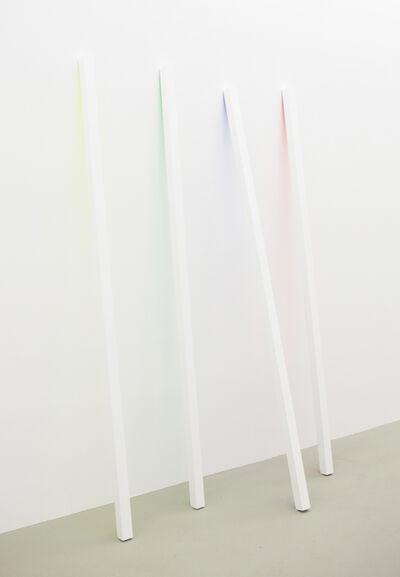 Philip Emde, 'Sticks - yellow, green, blue, red', 2015