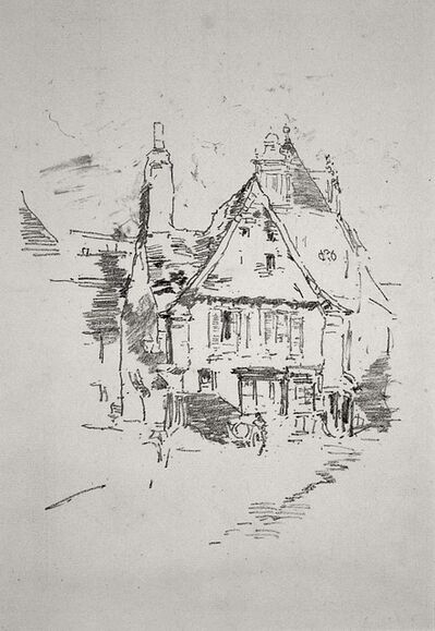James Abbott McNeill Whistler, 'Gabled Roofs, Vitre', 1893