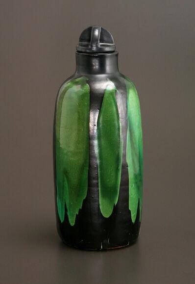 Max Laeuger, 'Jade and Black Bottle Vase', ca. 1903