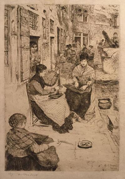 Otto Henry Bacher, 'Bead Stringers, Perleria, Venice', Unknown