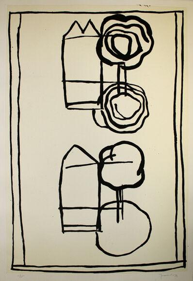 Joan Hernández Pijuan, 'Cases i arbres 4', 1989