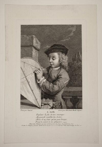 Renée Élisabeth Marlié-Lépicié, 'The Four Elements, Represented by Young Boys (complete series of four plates)', Mid 18th century