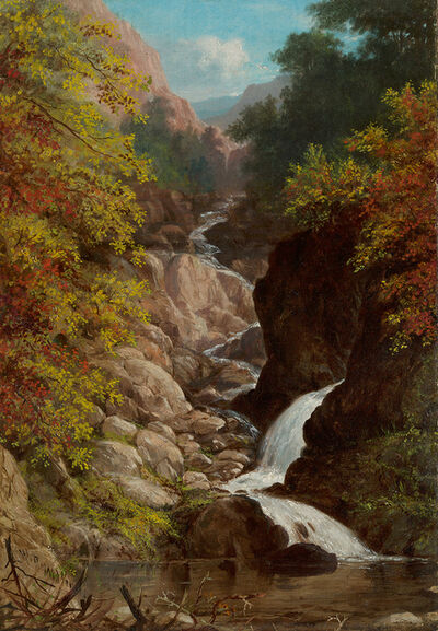 William Rickarby Miller, 'On the Ausable River'