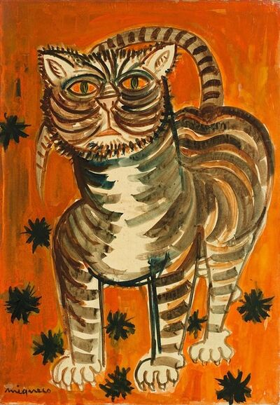 Giuseppe Migneco, 'Il Gatto Rosso', 1970