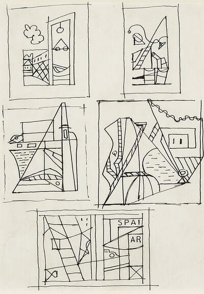 """Stuart Davis, 'Drawings for """"Spar"""" and """"Eye Level""""', 1932"""
