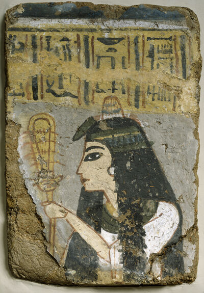 'Wall Painting: Woman Holding a Sistrum', ca. 1250-1200 B.C.