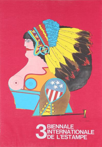 Richard Lindner, '3 Biennale Internationale D'Estampe', 1970