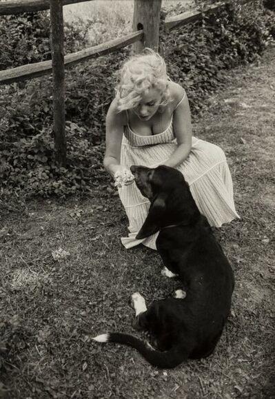 Sam Shaw, 'Marilyn Monroe with her Dog, Hugo, for Look Magazine, Amagansett, Long Island', circa 1957