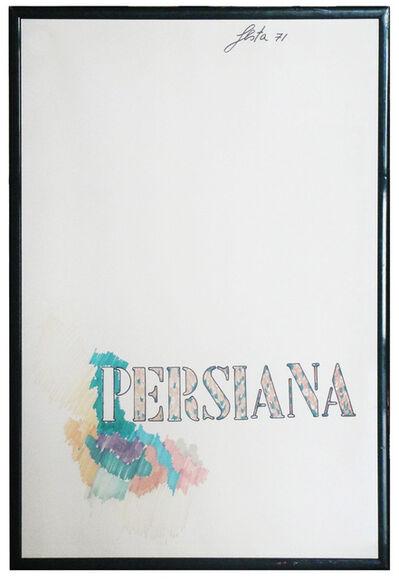 Tano Festa, 'Persiana (Persian)', 1971