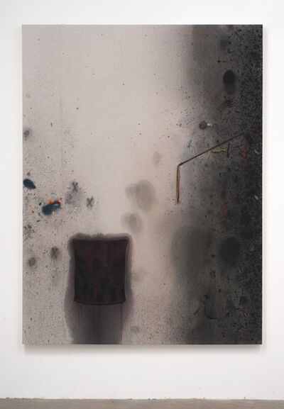 Amanda Ross-Ho, 'Untitled Dropcloth Painting (BLACK RAG AND TASSEL)', 2014