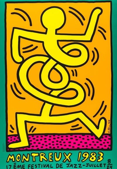 Keith Haring, 'Montreux 1983 (Prestel 9)', 1983