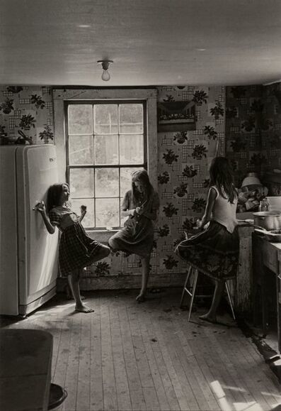 William Gedney, 'Three Girls in Kitchen, Kentucky', 1964-printed later