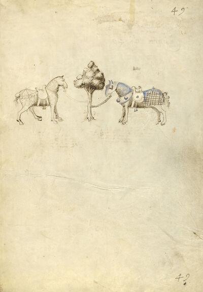Fiore Furlan dei Liberi da Premariacco, 'Two Horses', 1410