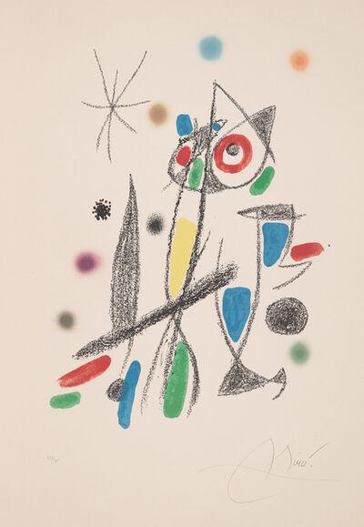 Joan Miró, 'Untitled, plate 12 from Maravillas con variaciones acrósticas en el jardín de Miró (Wonders with Acrostic Variations in Miró's Garden) (M. 1056; C. 211)', 1975