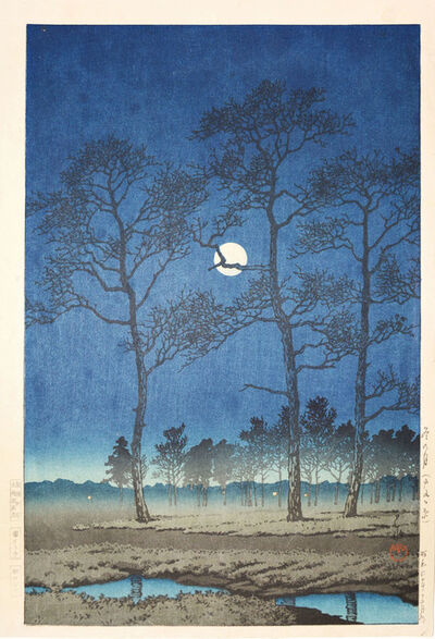 Kawase Hasui, 'Winter Moon on Toyama Plain', 1931