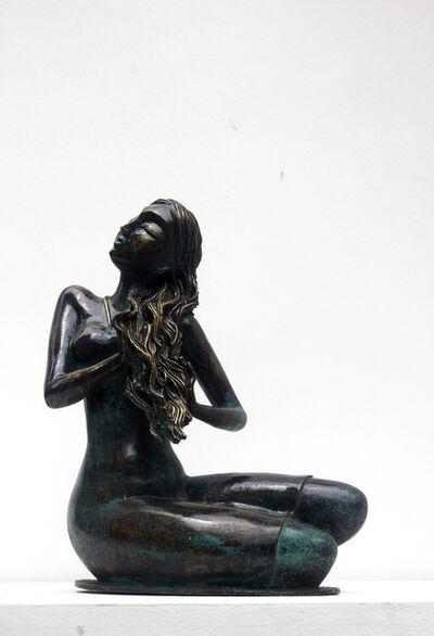 P Gnana, 'After my bath', 2014