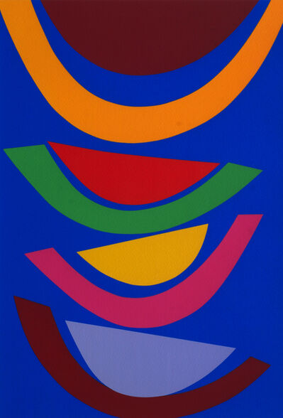 Sir Terry Frost, 'Swing in Blue [Kemp 218]', 2001