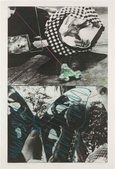 John Baldessari, 'Looking While Catching and Holding (Frog & Butterfly)', 1984
