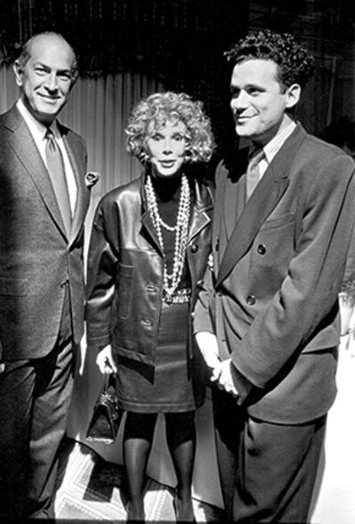Ron Galella, 'Oscar de la Renta, Joan Rivers, and Isaac Mizrahi, The Carlyle Hotel, New York', 1990